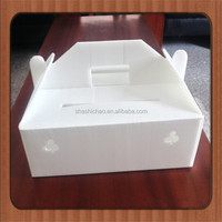 plastic corrugated board fruit box with handle