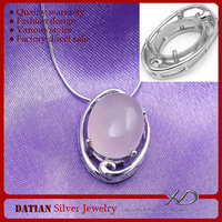 XD 925 Sterling silver charming pendant bezel jewelry mountings bezels for jewelry making