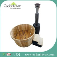 Chinese outdoor round wood fired portable hot tub
