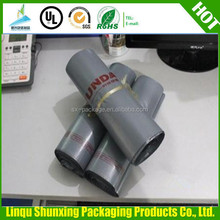 Co-extrude film grey and white color Courier mailing bags with adhesive glue