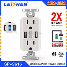 Promotion Gift Mini 15 amps wall socket for USA CA market