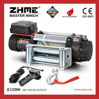 12500lbs electric power source mini 12V electric winch