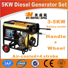 Diesel engine silent generator set genset CE ISO approved factory direct supply power generator price list