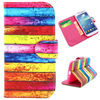 Wallet Style Cross Texture Flip PU Leather Back Cover for Samsung Galaxy S4