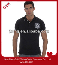 2014 new style men's polo with custom logo embroidered wholesale