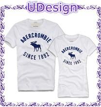 Custom couple t-shirt printing embroidered lovers shopping t shirt custom lovers custom t shirt