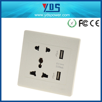 new products 2015 innovative product usb wall outlet 5v 2.1a usb outlet universal wall mounted power outlet socket 220v 13a