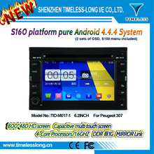s160 Android 4.4 Capacitive Screen Car DVD FOR peugeot 307 With GPS Radio