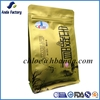 Square bottom stand up pouch side gusset food packaging bag/eight side sealed flat bottom Heat seal pouch for tea