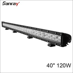 single row 40 inch 30w/60w/90w/120w led light bar for car/trucks/trailer/jeep