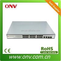 24 Port Managed PoE Network Switch 48v with 2 Gigabit TP/SFP Combo Ports (ONV-POE31024PF)