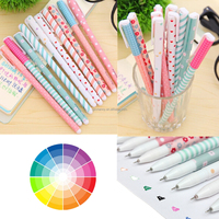 10pcs/set Excellent Quality New Cute Cartoon Colorful Gel Pens Set Watercolor Pen School Stationery For Student Office Supplies