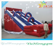 made in china best sales big red inflatable double lane slip n slide for kids and adults