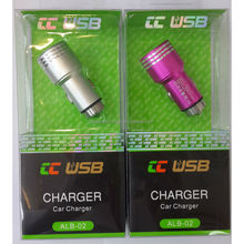 total aluminum alloy case real full 2.1A car charger 2 USB car charger