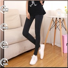High Elasticity Plus Size Solid Color Seamed Leggings for Women