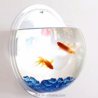 clear acrylic wall hanging dome fish tank for home decoration hot selling