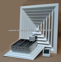 plaza difusor de aire en el sistema HVAC