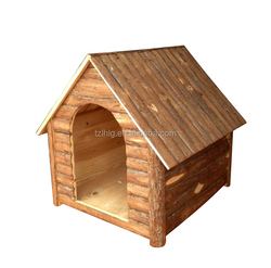 Wooden dog House With Bark