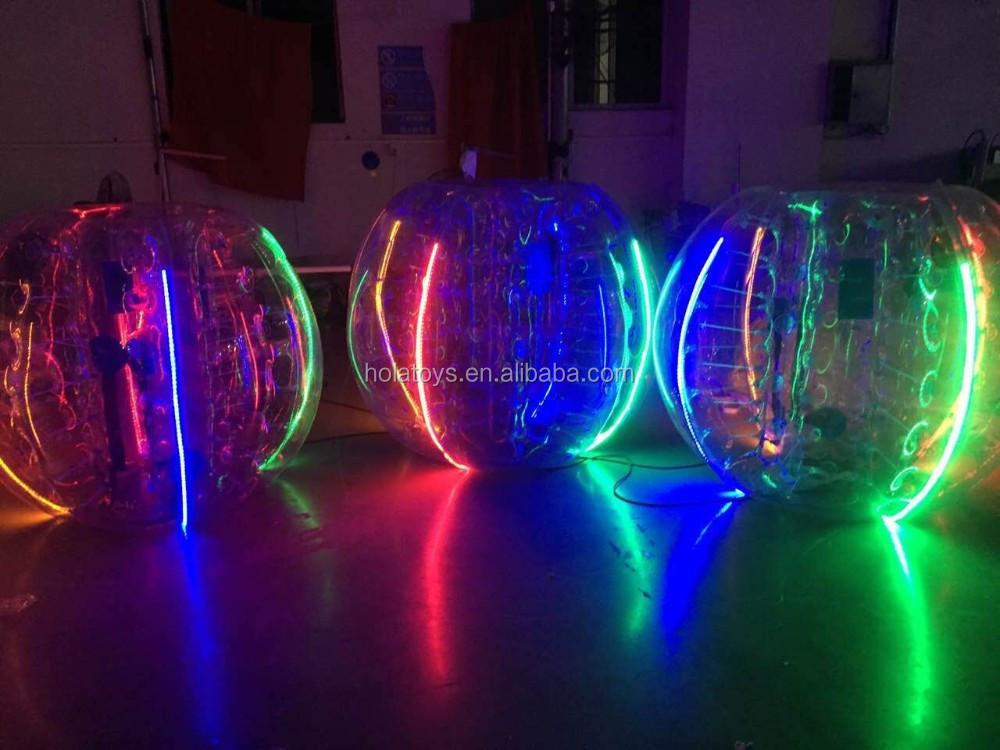 Hola LED bumper ball/aldrava ball/bola de futebol bolha para venda humano