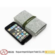 2015 Alibaba new style!!! Fashional Wool Felt Phone Cases &Felt Cell Phone Bags