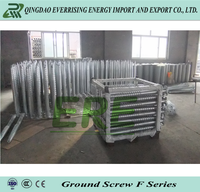 Helical screw piles for solar power system