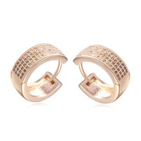 2015 Micro Paved Fashion Jewelry Latest Design of Ring Type Hoop Earrings