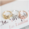 Fashion silver -plated exo kpop Letter XOXO Ring for women gift