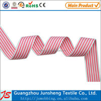 high quality polyester woven striped webbing