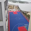 Durable PP plastic interlock excellent basketball floor
