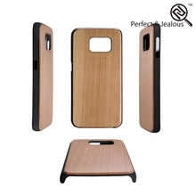 new products 2015 innovative product New fashinable wooden +pc protective housing case for s6 edge