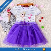 children fancy dress summer Frozen girls dress