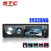 One Din Car DVD/CD/ MP3 Player With FM/USB/SD,Car Audio Stereo,Fold Down Detachable Panel