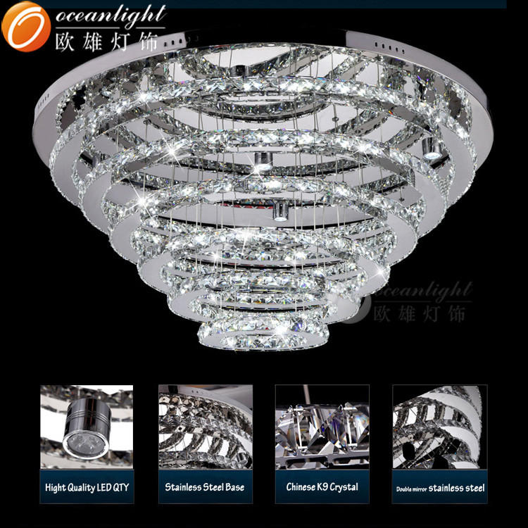 Fashion best selling big size living room circle crystal chandelier fashion best selling big size living room circle crystal chandelier model five layers circle crystal chandelier om99004 aloadofball Choice Image