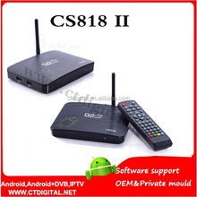 CS818II DVB-T2 AMLogic8726 Dual Core Android 4.2.2 1G 8G WiFi Bluet dual core mx android smart tv box cs818 ii
