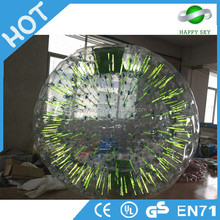Good quality light human sized hamster ball,light zorbing prices,inflatable light zorb ball for sale