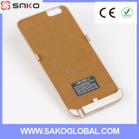 Oem china manufacturer power bank case for iphone 6 plus, external backup battery cell phone covers