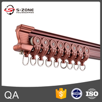 GD33 Project design ceiling mount flexible curtain track with joiner