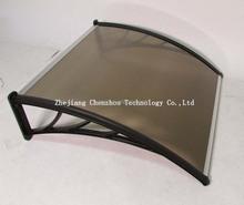 (plastica staffa tenda) di alta qualità certificazione iso 100% lastra di policarbonato tenda porta con protezione uv czcp- S29