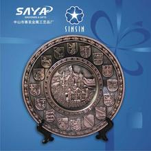 Europe style belgique plaque de métal souvenir