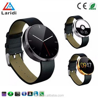 2015 New style leather steel smart sport watch DM360 smartwatch wristwatch for men and women with android and ios cellphone