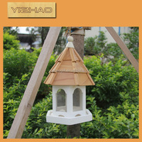Eco-friendly FSC Hanging outdoor antique elegant folding Wooden Bird Cage,outdoor wooden bird cage