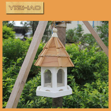 Eco-friendly FSC Hanging outdoor antique elegant folding Wooden Bird Cage,outdoor wooden bird cage