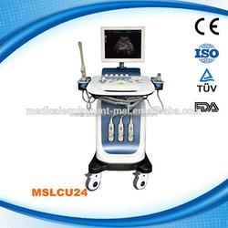 Modern design trolley color doppler 4D ultrasound machine with cheap price MSLCU24-L