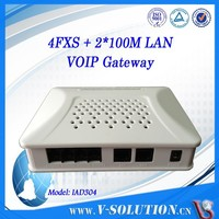 Rj45 to rj11 4fxs sip ata voip phone with 2 ethernet ports