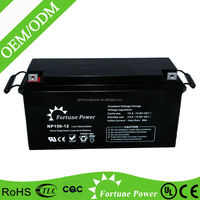 china supplier lead acid maintenance free ups gel inverter battery 150ah 12v