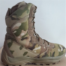 2014 Geniune camouflage leather combat military camouflage boots with zipper 13.8 dollar