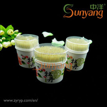 High Quality Bamboo Toothpicks in Plastic Bottle