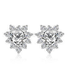 Manufacturers, wholesale fashion design Zircon peach heart zircon earrings selling
