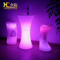 2015 New product high quality waterproof led chair and LED dinning set
