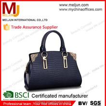 2015 NEW DESIGN style lady croco genuine pu leather handbags , woman shoulder handbag